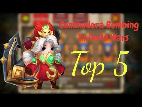 Commodora Bombing Top 5 Bases In Guild Wars L Castle Clash