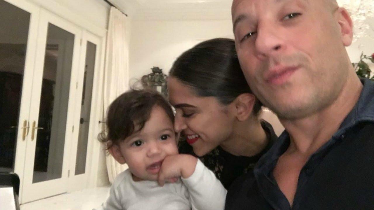 Deepika padukone cute selfie with vin diesel s daughter pauline