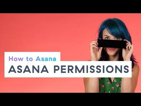 How to Asana: Asana permissions