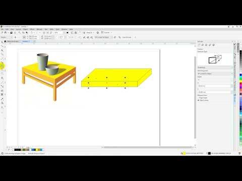 Vẽ bàn 3D trong corel Tự học corel A-Z