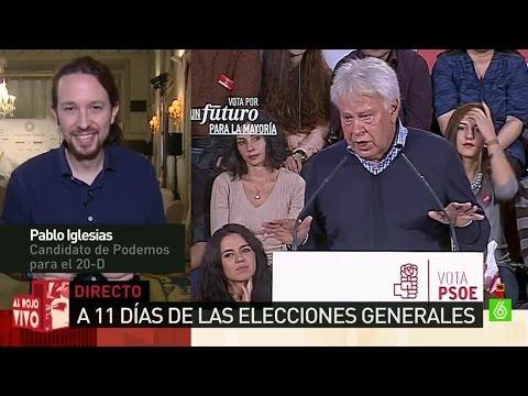 """Pablo Iglesias: """"Me sorprende que Felipe González contrate a Inda para hacerle los argumentarios"""""""