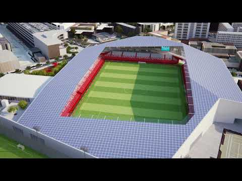 The Gibraltar FA's plans for a new stadium.