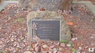 visting the grave of Peter Brock