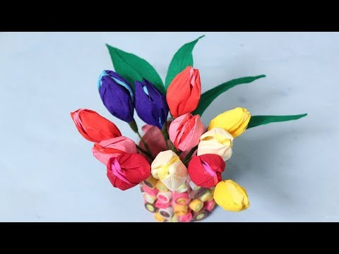 How To Make Beautiful Paper Tulip Flowers - DIY Paper Crafts