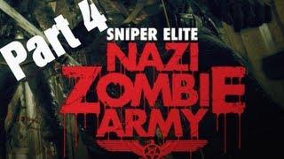 "Sniper Elite ""Nazi Zombie Army"" - Library of Evil (Level 4) Walkthrough"
