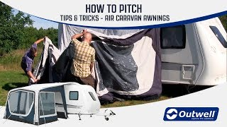 How To Pitch A Outwell Inflatable Air Caravan Awning Innovative Family Camping Youtube
