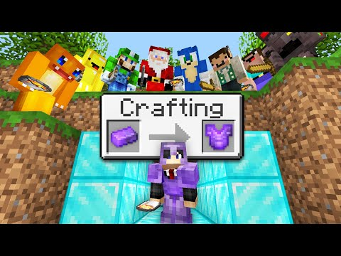 "Minecraft Manhunt but i secretly used ""Random Crafting"".."
