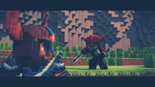 animação de minecraft guerra+(música)
