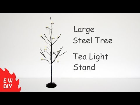 DIY steel tea light stand