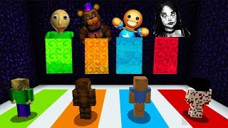 - Minecraft PE DO NOT CHOOSE THE WRONG DIMENSION Momo, Baldi s Basics, Kick The Buddy FNAF