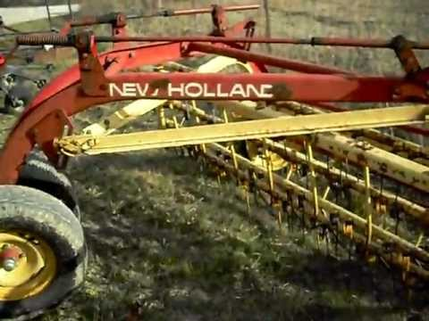 New Holland 256 Hay Rake - YouTube