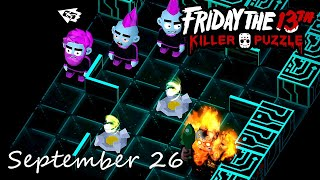 Friday the 13th Killer Puzzle Daily Death September 26 2020 Walkthrough