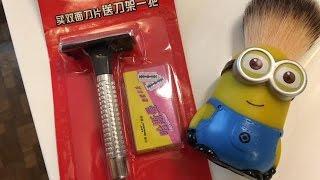 Cheap Chinese Horseyman 99 Cent Razor Wet Shave and Minion Brush