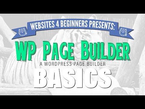WP Page Builder   Basics