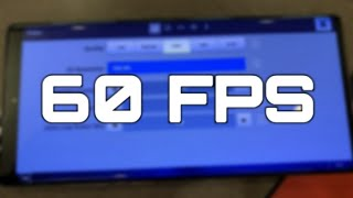 Get 60 Fps On Fortnite Mobile - Android