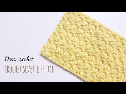 [코바늘 기초 스티치 패턴] 수제트 스티치 (crochet suzette stitch)