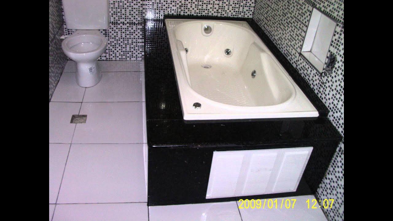 Banheiro com banheira  YouTube -> Medidas Ideais Para Banheiro Com Banheira