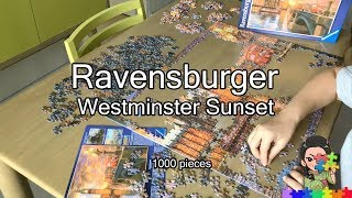 2. Ravensburger Puzzle 1000 pieces - Westminster Sunset [Jigsaw Timelapse]