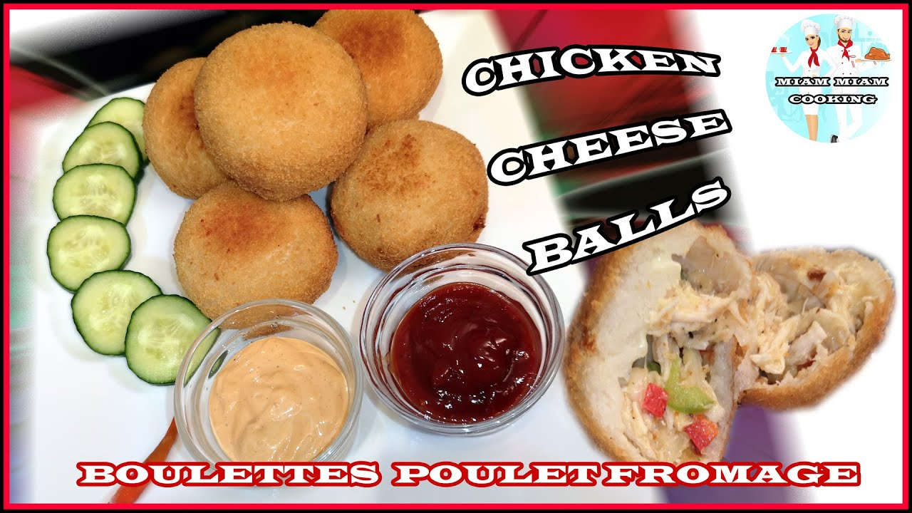 Chicken Cheese Balls | Croquette Poulet au Fromage | Nuggets Chicken Mozzarella | Miam Miam Cooking