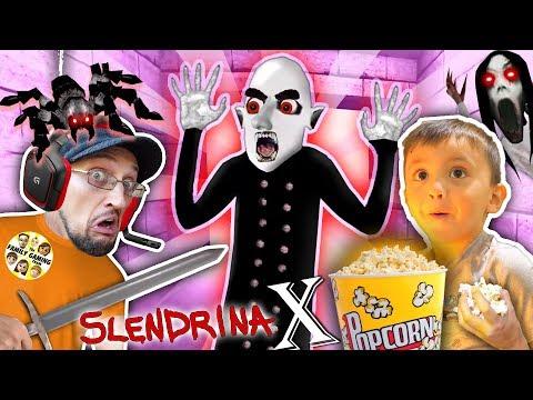 SLENDRINA X: The STRANGE HUSBAND! GRANNY'S SPIDER Chase FGTEEV Shawn & Dudz