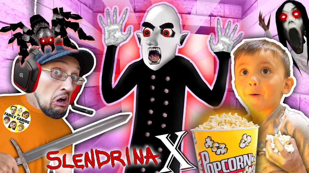 SLENDRINA X: The STRANGE HUSBAND! GRANNYS SPIDER Chase FGTEEV Shawn & Dudz
