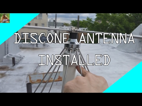 Discone Antenna - Installed
