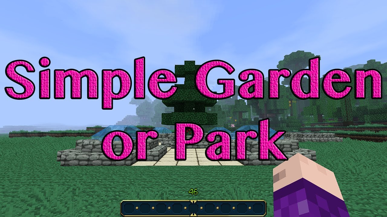 Minecraft Simple Park Or Garden Ideas For ArxanecRS YouTube