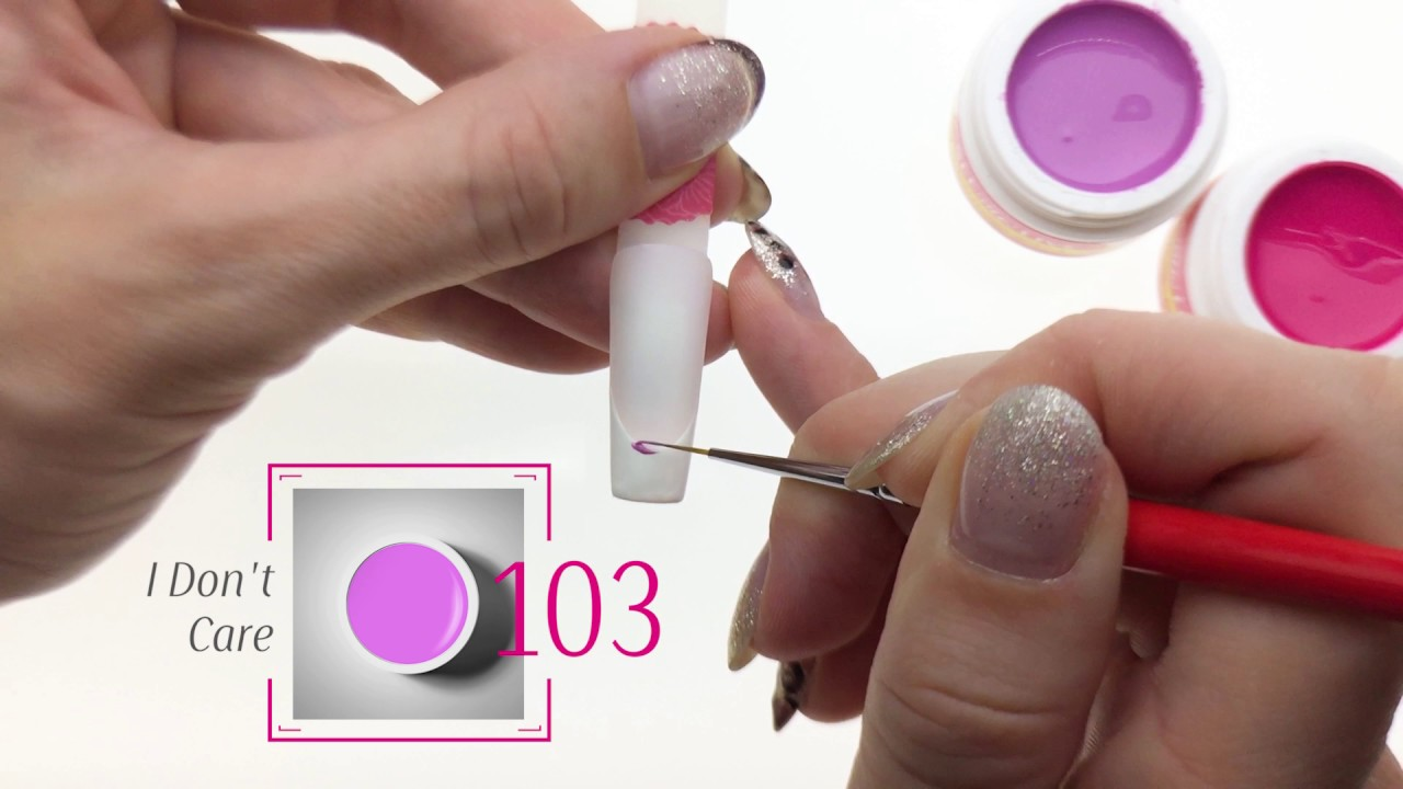 Elegant French Gel Nail Design Fast and Easy - YouTube