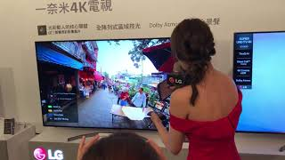 LG 一奈米電視播放 360 VR影片