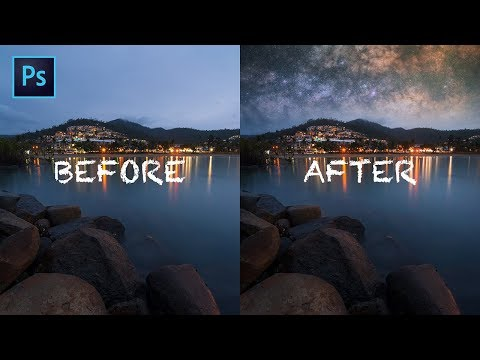 Milky Way Landscape Photography - Photoshop Tutorial | Replacing Sky With The Milky Way thumbnail