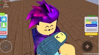 Roblox - Finding and adopting an abandoned baby