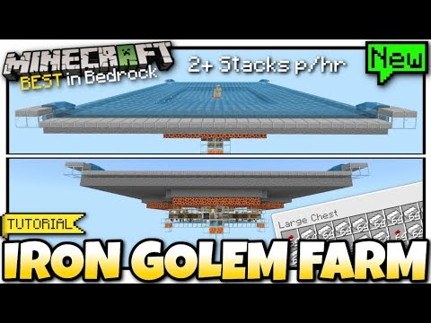 minecraft-bedrock---iron-golem-farm---automatic-[-tutorial-]-ps4-/-mcpe-/-xbox-/-windows-/-switch