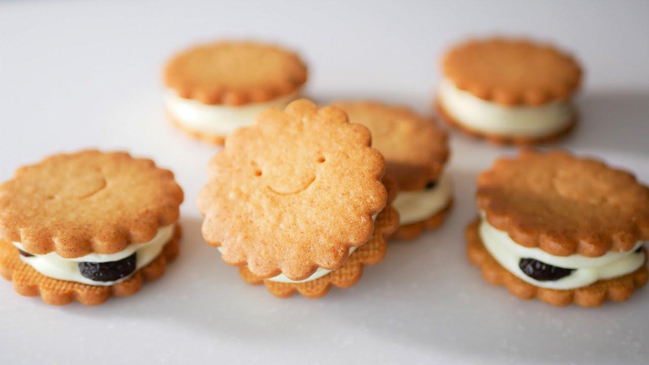 ケーキ屋さんのかわいいバターサンドクッキーの作り方【短縮版】 ビルソンローラーズ