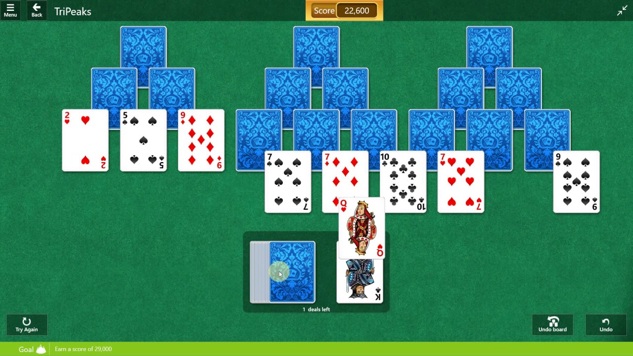 Microsoft Solitaire Collection Tripeaks
