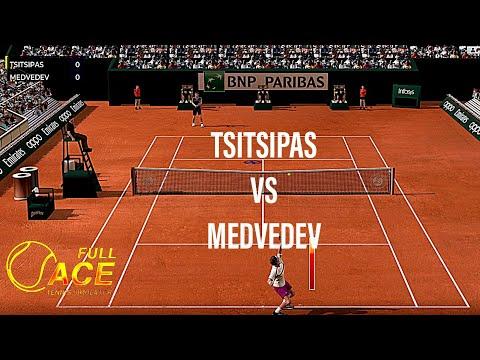 FULL ACE TENNIS SIMULATOR - PC Gameplay - Stefanos Tsitsipas VS Daniil Medvedev |