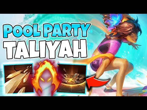 *NEW* POOL PARTY TALIYAH IS 100% AMAZING! NUKE WITH WATER BEAMS - League of Legends