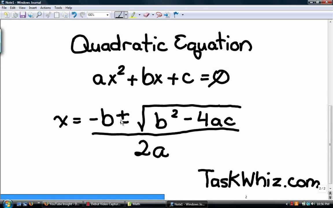 Quadratic Formula Songs - YouTube