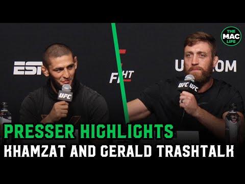 Gerald Meerschaert and Khamzat Chimaev talking trash before they fight tomorrow.
