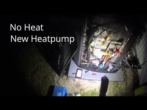 HVAC Service: No Heat Troubleshooting New Heatpump Won't Run 4-9-16