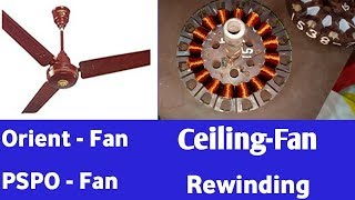 Ceiling fan coil winding data easy at home ORIENT PSPO FANS 18+18 SLOTS with connection diagram