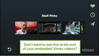 How to change the end screen for vimeo videos