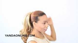 applying a hair piece