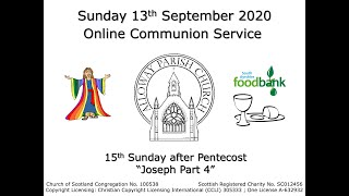 Alloway Parish Church Online Service - Sunday, 13th September 2020