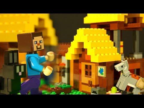 Фермерский Коттедж для LEGO НУБика Майнкрафт Мультики LEGO Minecraft - Видео Мультфильмы для Детей