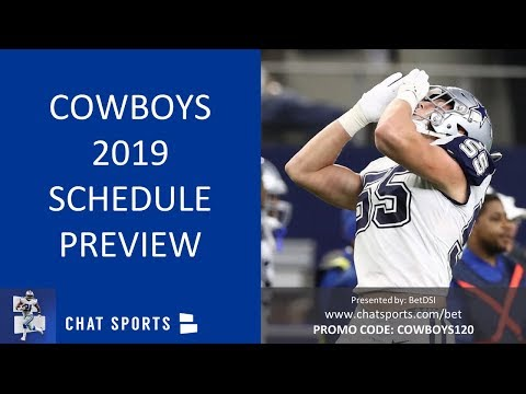Dallas Cowboys 2019 Schedule: Home Games, Away Games And What Teams The Cowboys Play