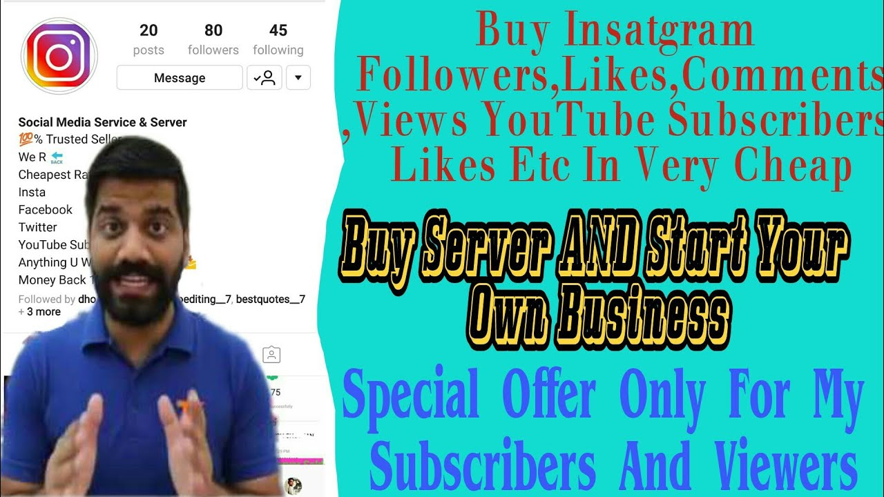 SMM Panel | Buy Instagram Followers Likes Etc And Server From Us |With  Technical Guruji|
