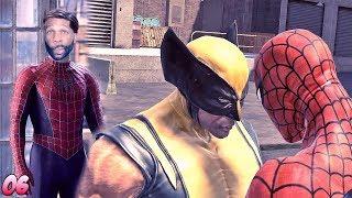 Spider-Man: Web of Shadows Walkthrough Gameplay Part 6 - Spider-Man vs. Wolverine