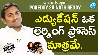 Civils Topper Sainath Reddy (480th Rank) Exclusive Interview    Dil Se With Anjali