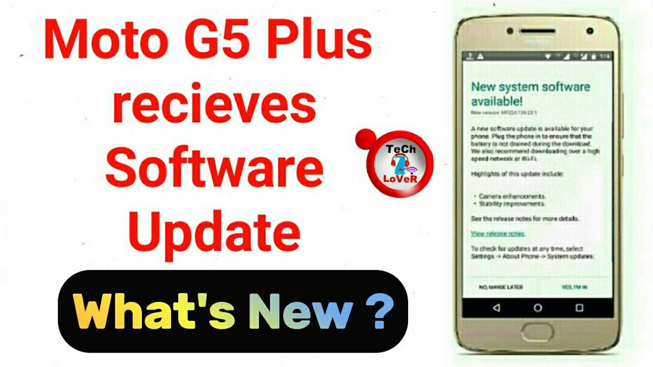 Moto G5 Plus Software Update