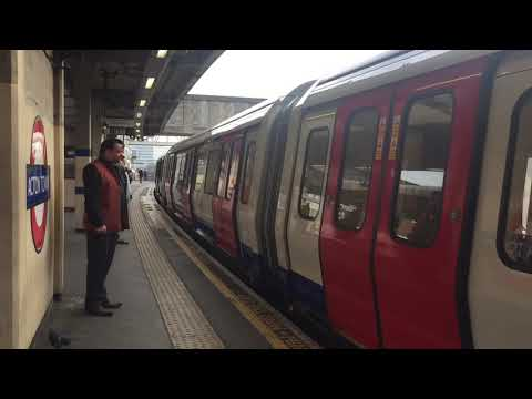 London Underground S7 Stock District Line Arriving at Acton Town for Eailing Broadway
